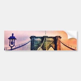 Puente de Brooklyn - colorido - New York City Pegatina Para Auto