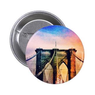 Puente de Brooklyn - colorido - New York City Pin