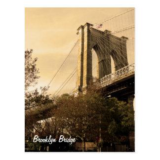 Puente de Brooklyn de Brooklyn (personalizar él!) Tarjetas Postales