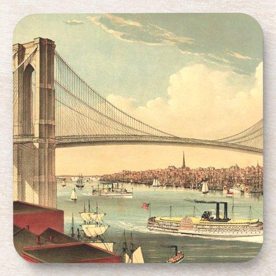 Puente de Brooklyn de la CAMISETA Posavasos De Bebida