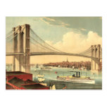 Puente de Brooklyn de la CAMISETA Tarjeta Postal