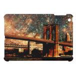 Puente de Brooklyn de la noche estrellada iPad Mini Cárcasa