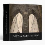 """Puente de Brooklyn de la sepia del vintage Carpeta 1 1/2"""""""