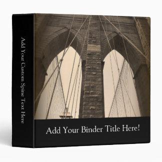 Puente de Brooklyn de la sepia del vintage