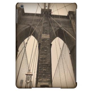 Puente de Brooklyn de la sepia del vintage Nueva Y Funda Para iPad Air