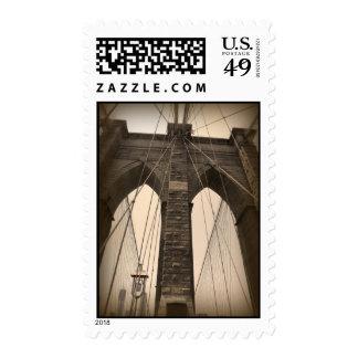 Puente de Brooklyn de la sepia del vintage Envio