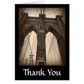Puente de Brooklyn de la sepia del vintage Felicitacion