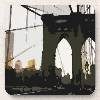 Puente de Brooklyn del arte pop Posavasos