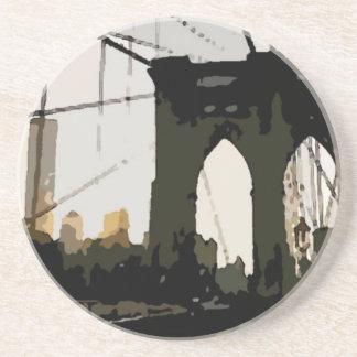 Puente de Brooklyn del arte pop Posavasos Manualidades