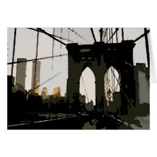 Puente de Brooklyn del arte pop Tarjeta De Felicitación
