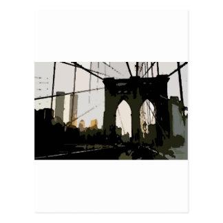 Puente de Brooklyn del arte pop Tarjeta Postal