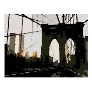 Puente de Brooklyn del arte pop Tarjetas Postales