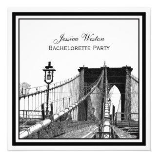 Puente de Brooklyn del horizonte de NYC #2 Bachelo Anuncio Personalizado