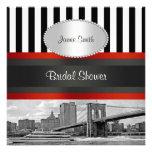 Puente de Brooklyn del horizonte de NYC, ducha nup Invitación Personalizada