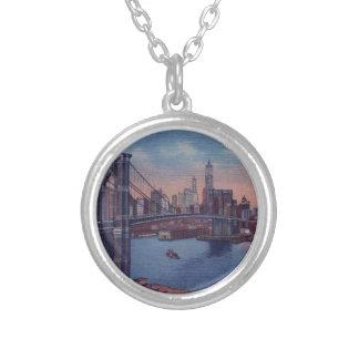 Puente de Brooklyn del vintage Colgante Redondo