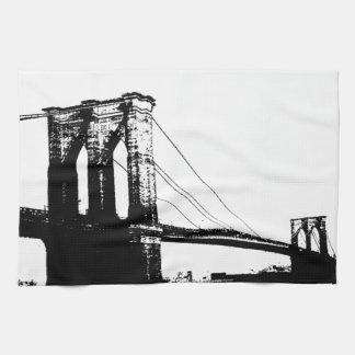 Puente de Brooklyn del vintage Toallas De Mano