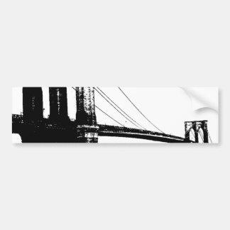 Puente de Brooklyn del vintage Pegatina Para Auto