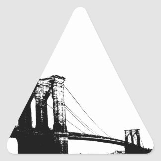 Puente de Brooklyn del vintage Pegatina Triangular