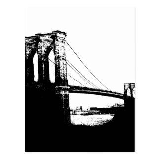 Puente de Brooklyn del vintage Postal