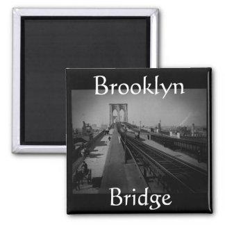 Puente de Brooklyn del vintage Pre-1900 Iman De Nevera