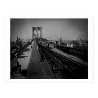 Puente de Brooklyn del vintage Pre-1900 Postales