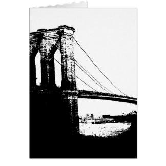 Puente de Brooklyn del vintage Tarjeta De Felicitación