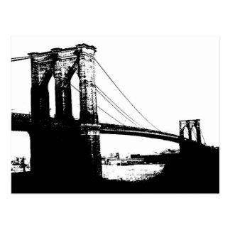 Puente de Brooklyn del vintage Tarjetas Postales