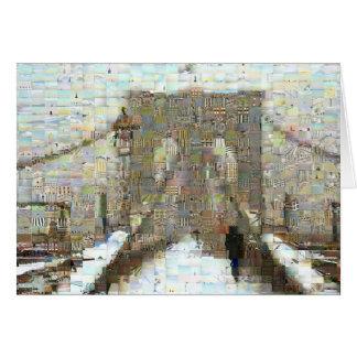 Puente de Brooklyn, día Nevado Tarjeta De Felicitación