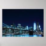 Puente de Brooklyn en el poster de la noche (30,00