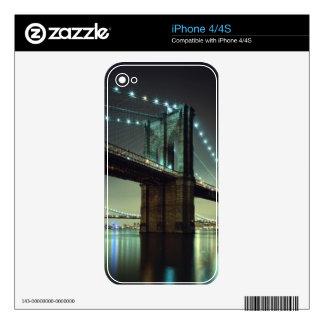 Puente de Brooklyn en el puente de Manhattan de la Skins Para iPhone 4