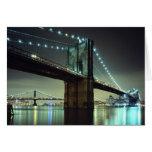 Puente de Brooklyn en el puente de Manhattan de la Tarjeta