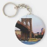 Puente de Brooklyn en foto de la original de NYC Llavero Redondo Tipo Pin