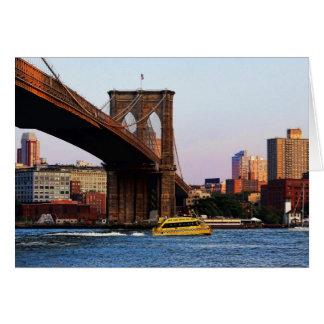 Puente de Brooklyn en foto de la original de NYC Tarjeta Pequeña