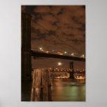 Puente de Brooklyn en la noche Impresiones