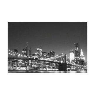 Puente de Brooklyn en la noche, New York City Impresion En Lona