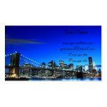 Puente de Brooklyn en la noche, New York City Tarjetas Personales