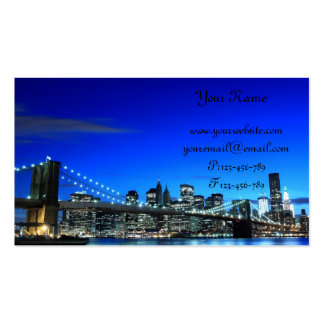 Puente de Brooklyn en la noche New York City Tarjetas Personales
