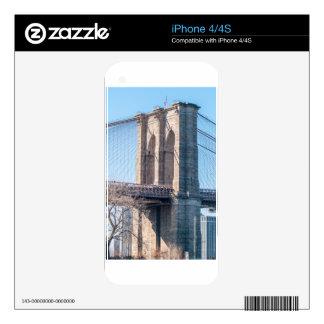 Puente de Brooklyn en New York City Calcomanías Para El iPhone 4S