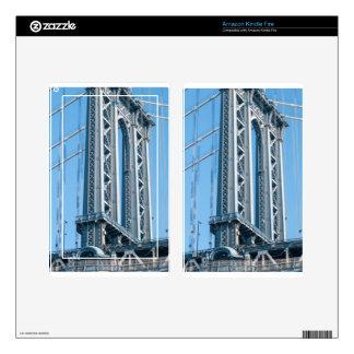 Puente de Brooklyn en New York City Kindle Fire Pegatinas Skins