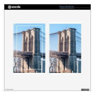 Puente de Brooklyn en New York City Pegatinas Skins Para Kindle Fire