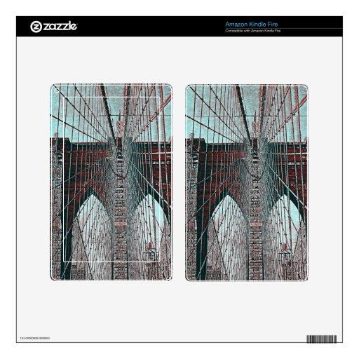 Puente de Brooklyn en NYC Kindle Fire Pegatinas Skins