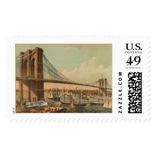Puente de Brooklyn Estampillas