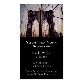 Puente de Brooklyn, foto de Nueva York - tarjeta Tarjeta De Visita