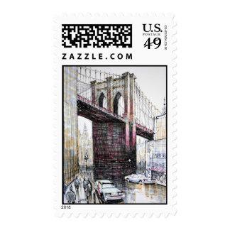Puente de Brooklyn, franqueo de los E.E.U.U.