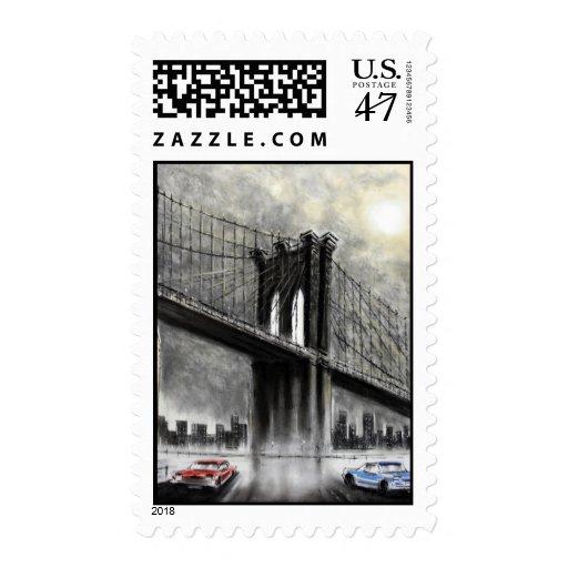 Puente de Brooklyn, franqueo de los E.E.U.U. Timbres Postales