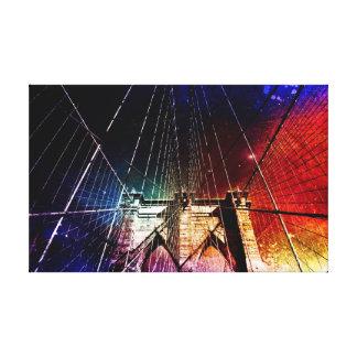 Puente de Brooklyn - galaxias - NYC Lienzo Envuelto Para Galerias