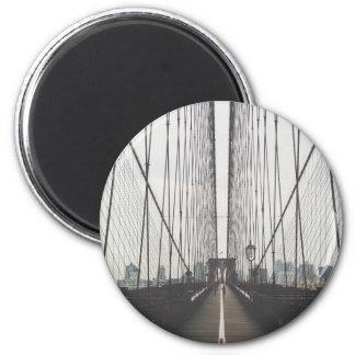 puente de Brooklyn Imán Redondo 5 Cm