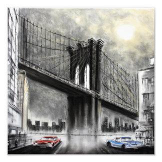 Puente de Brooklyn, impresión de la foto de los Fotografías