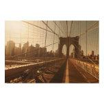 Puente de Brooklyn Impresión En Madera