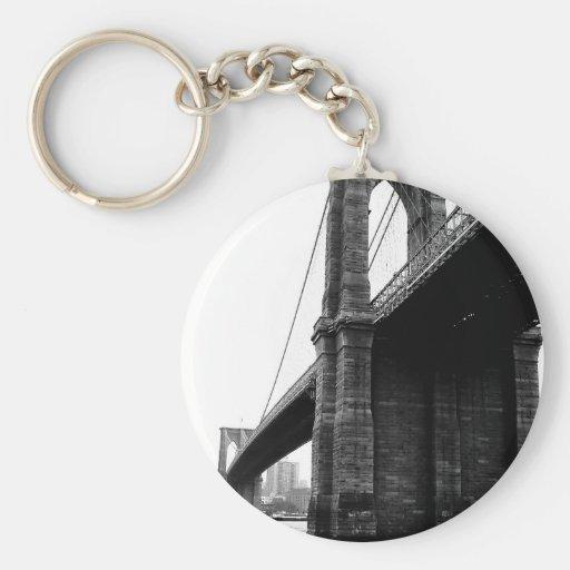Puente de Brooklyn Llavero Redondo Tipo Pin